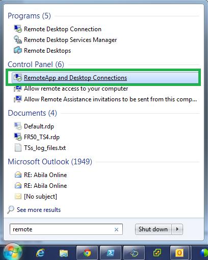 Abila hosted mobile access via Microsoft Remote Desktop