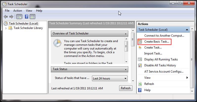 Automated backups utilizing SQL Server and Windows Task